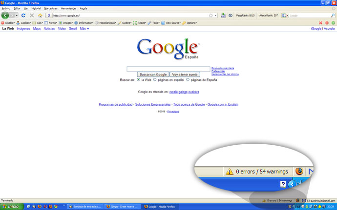 Errores en google